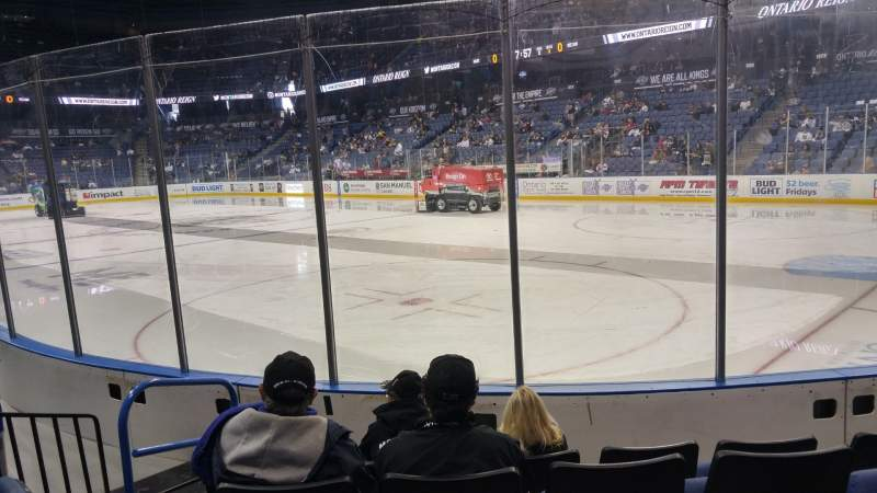 Seating view for Citizens Business Bank Arena Section 101 Row E Seat 10