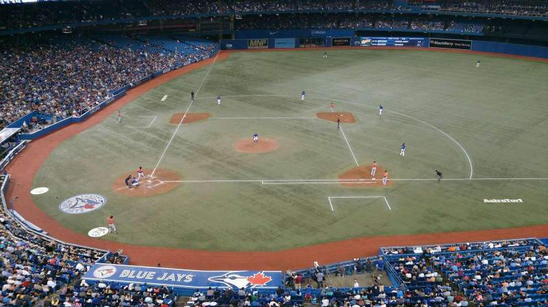 Seating view for Rogers Centre Section 520 Row 1 Seat 5
