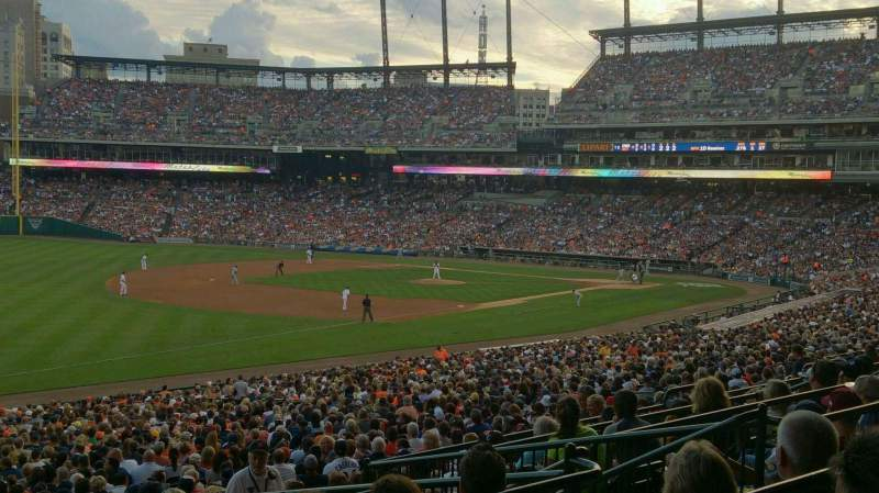 Seating view for Comerica Park Section 140 Row F Seat 5