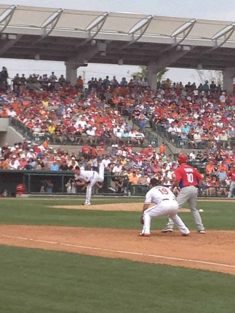 Seating view for Ed Smith Stadium Section 103 Row 5 Seat 1