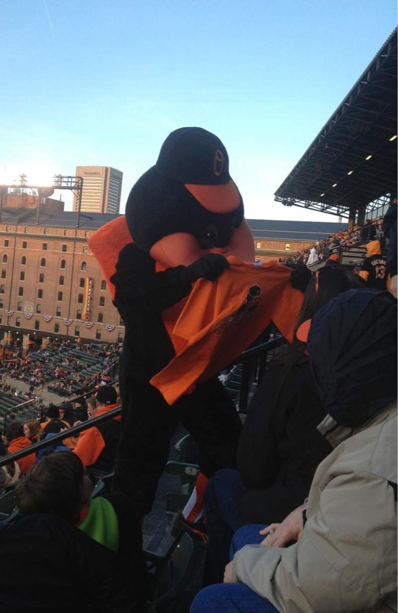 Seating view for Oriole Park at Camden Yards Section 364 Row 6 Seat 5