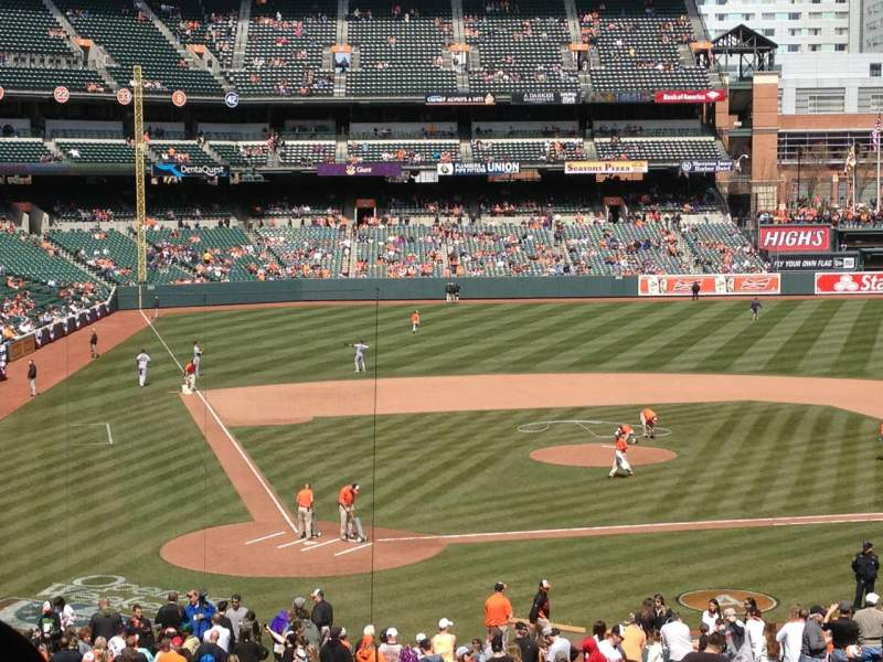Seating view for Oriole Park at Camden Yards Section 29 Row 7 Seat 9