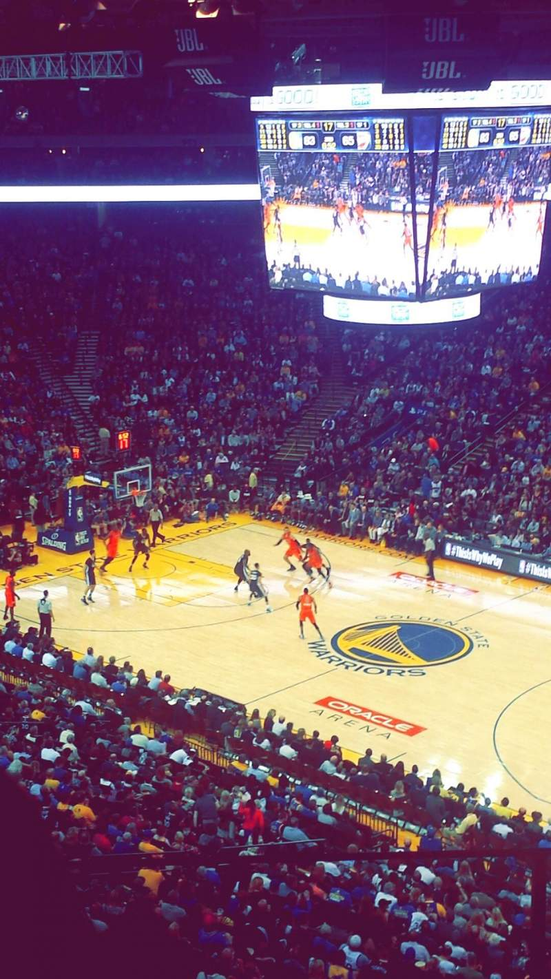 Seating view for Oracle Arena Section 213 Row 4 Seat 6