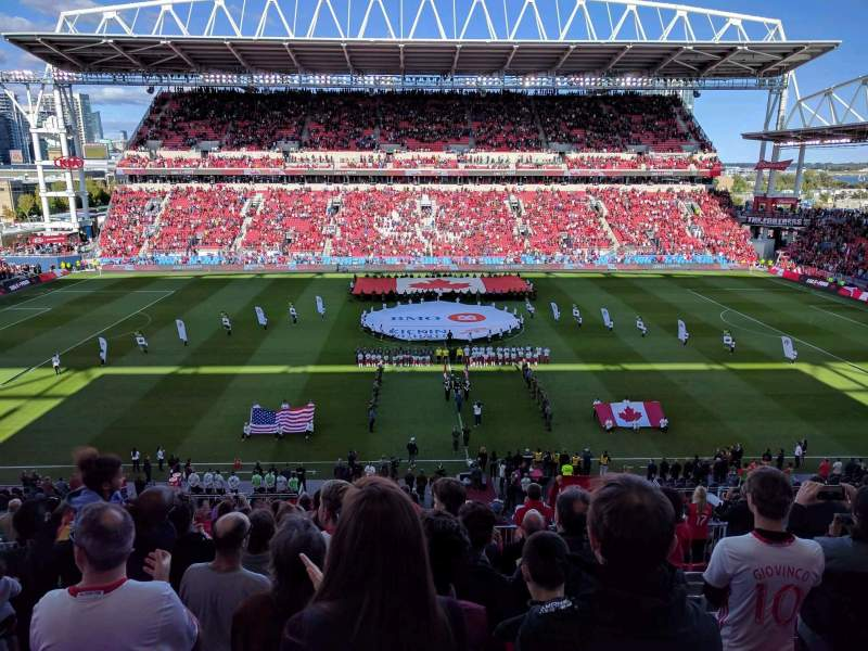 Seating view for BMO Field Section 223 Row 14 Seat 28