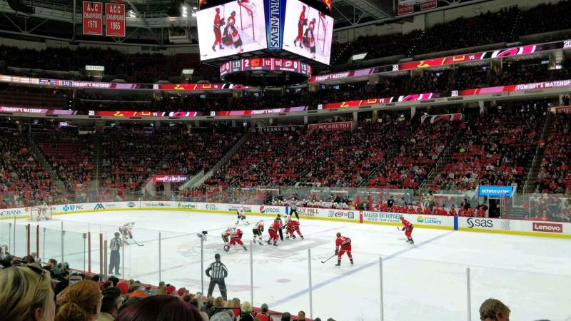 Seating view for PNC Arena Section 117 Row M Seat 3