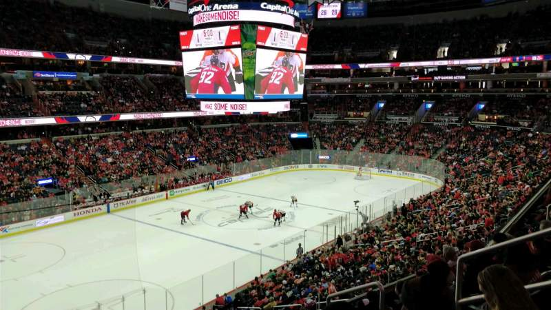 Seating view for Capital One Arena Section 211 Row F Seat 8