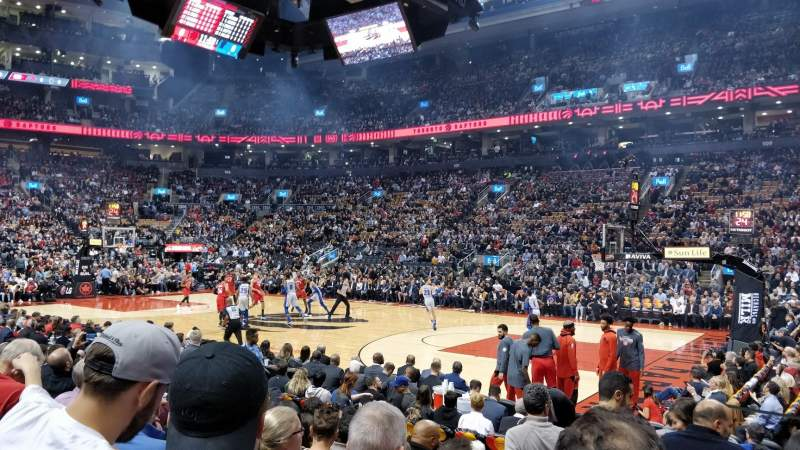 Seating view for Scotiabank Arena Section 118 Row 8 Seat 1