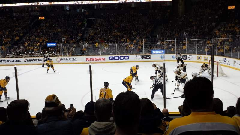Seating view for Bridgestone Arena Section 107 Row 5 Seat 8