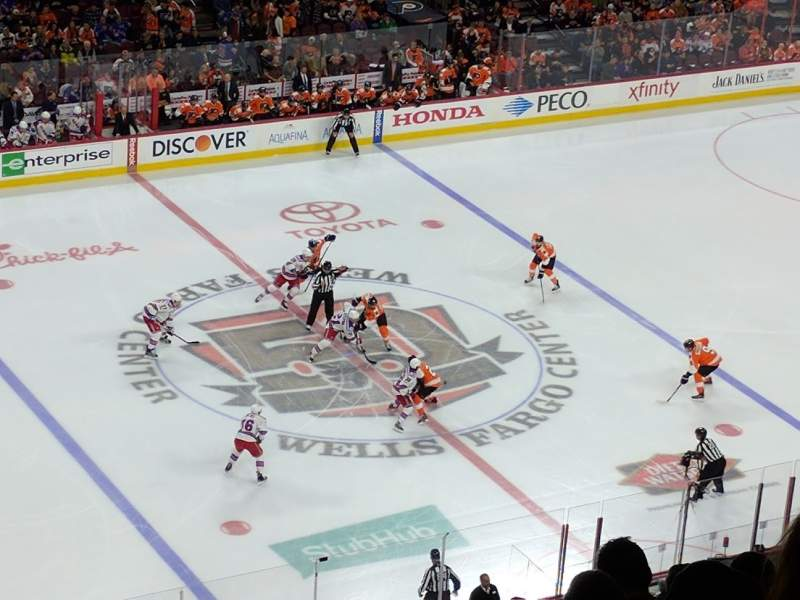 Seating view for Wells Fargo Center Section 211 Row 11 Seat 5
