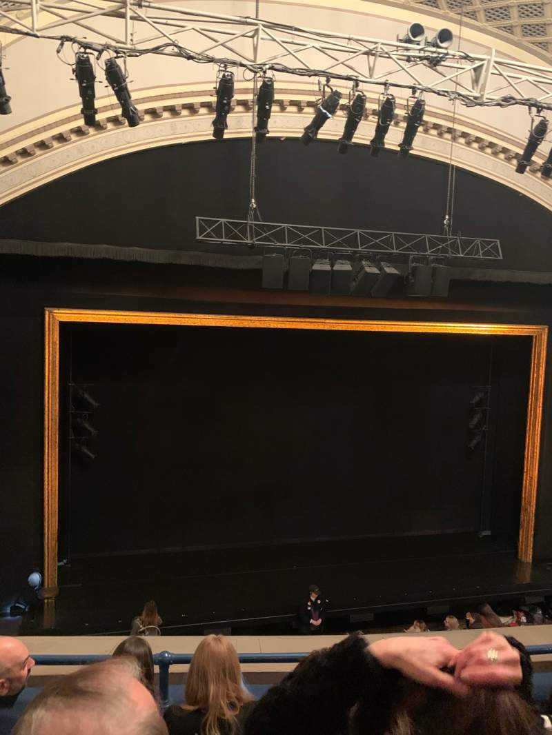 Seating view for Ambassador Theatre Section Front Mezzanine LC Row D Seat 117