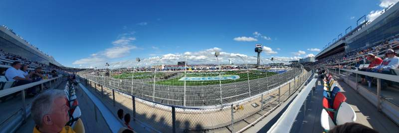 Seating view for Charlotte Motor Speedway Section Ford K Row 7 Seat 12