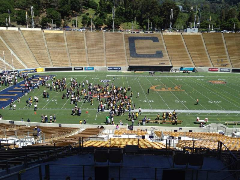 Seating view for California Memorial Stadium Section G Row 43 Seat 8