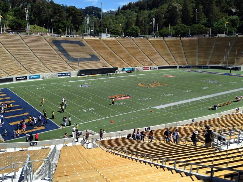 Seating view for California Memorial Stadium Section E Row 47 Seat 10