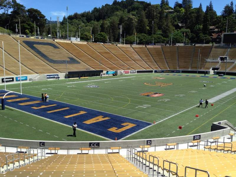 Seating view for California Memorial Stadium Section CC Row 30 Seat 6