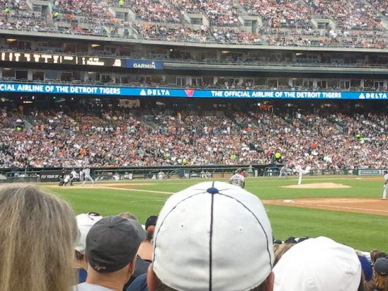 Seating view for Comerica Park Section 117 Row 15 Seat 09