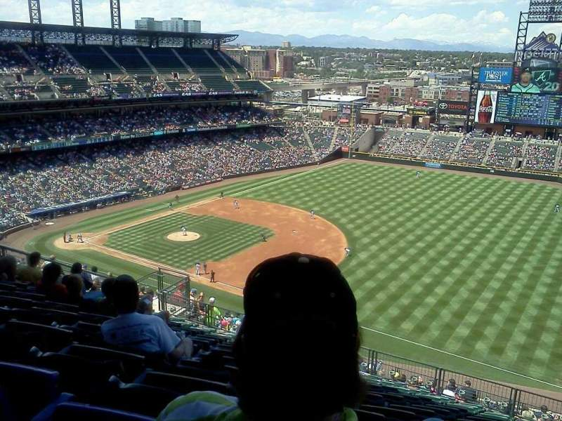 Seating view for Coors Field Section U317 Row 21 Seat 6