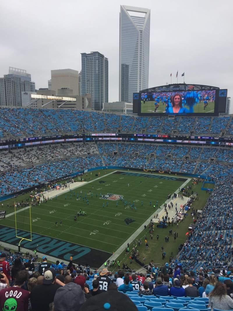 Bank of America Stadium, section: 551, row: 24, seat: 12