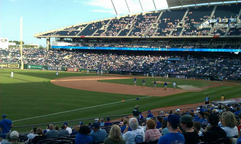 Seating view for Kauffman Stadium Section 112 Row x Seat 8