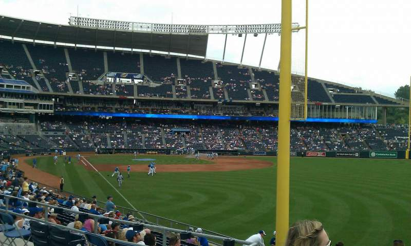 Seating view for Kauffman Stadium Section 248 Row bb Seat 1