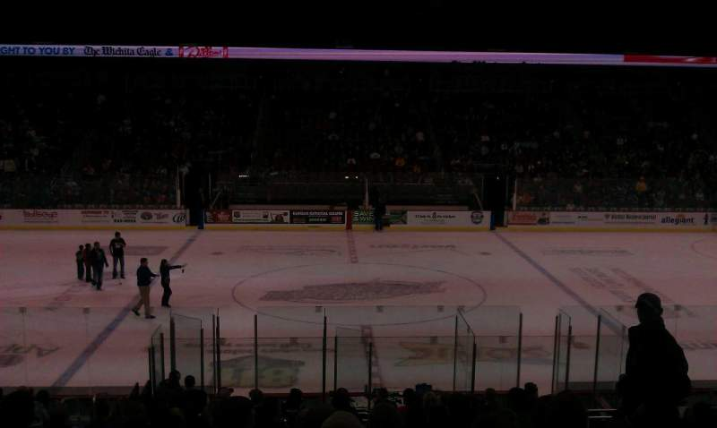 Seating view for Intrust Bank Arena Section 103 Row T Seat 11