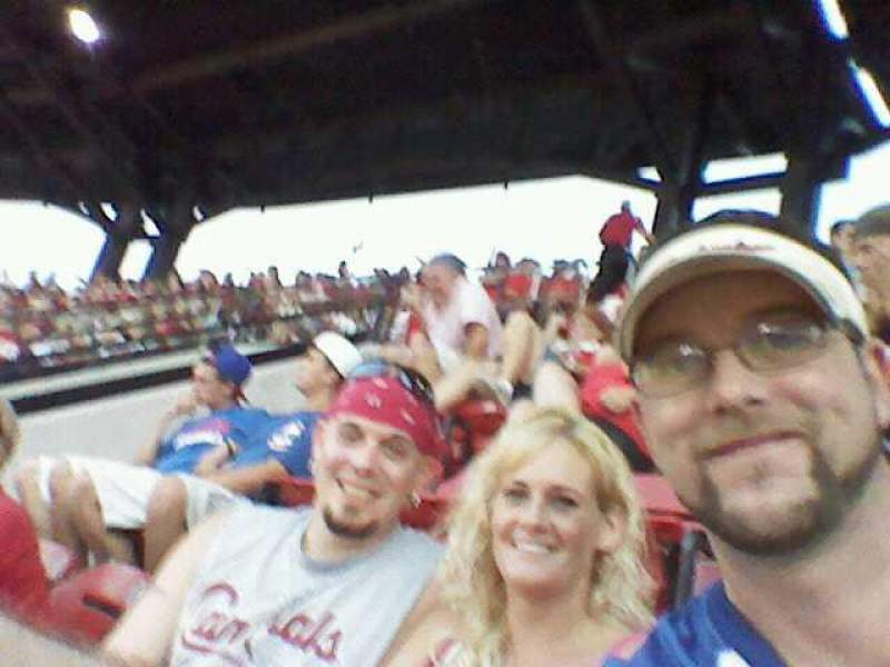 Seating view for Busch Stadium Section 448 Row 1 Seat 13