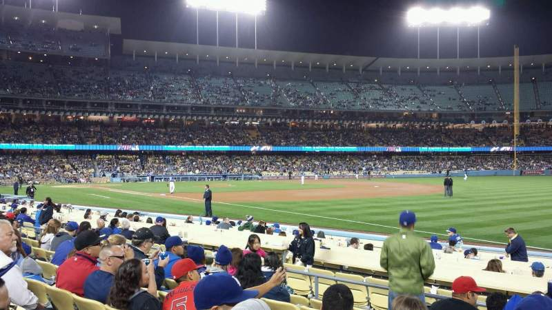 Seating view for Dodger Stadium Section 40FD Row G Seat 5