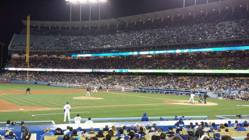 Seating view for Dodger Stadium Section 25FD Row O Seat 1