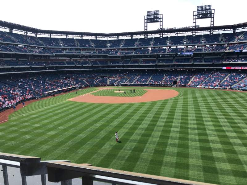 Seating view for Citizens Bank Park Section 202 Row 1 Seat 1