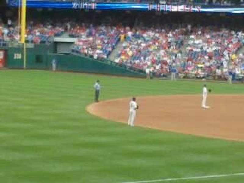 Seating view for Citizens Bank Park Section 136 Row 26 Seat 14