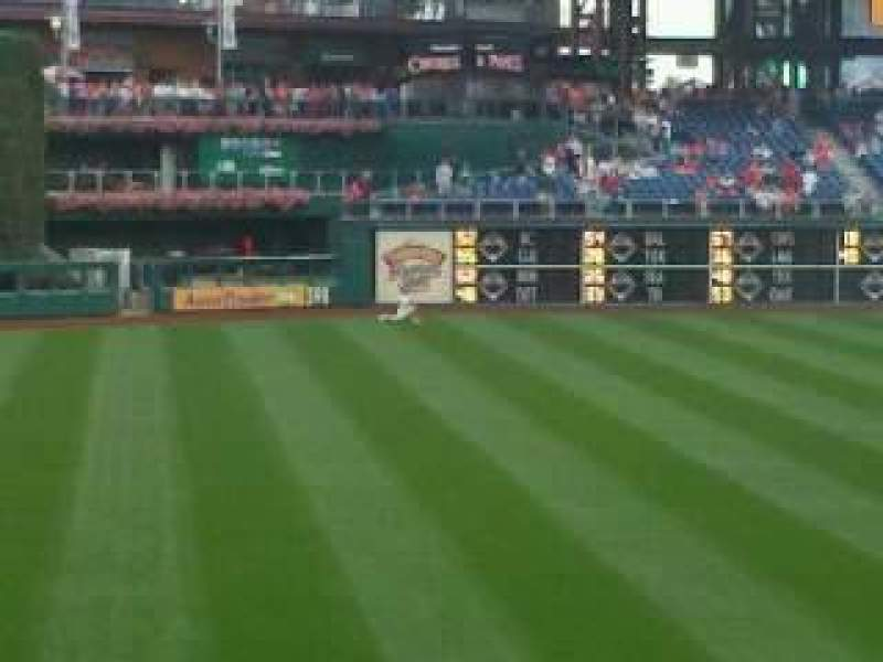 Seating view for Citizens Bank Park Section 136 Row 25 Seat 16