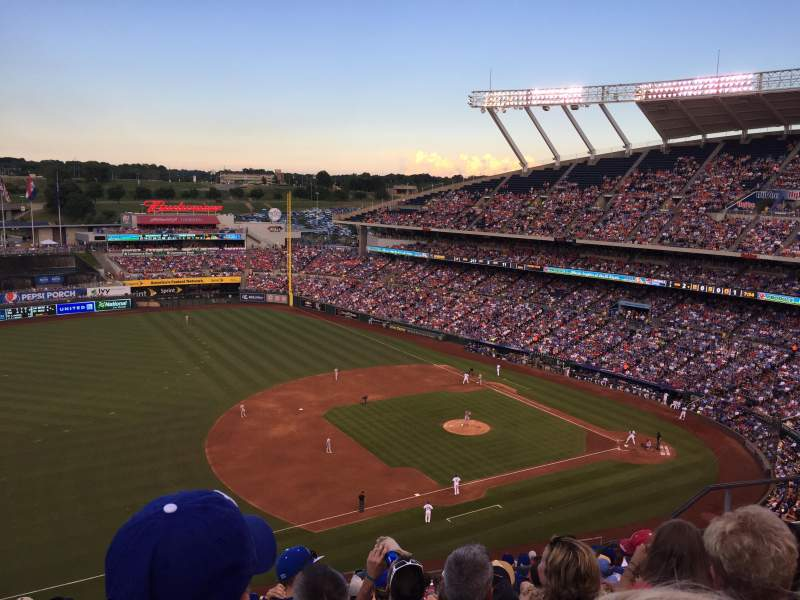 Seating view for Kauffman Stadium Section 407 Row AA Seat 16