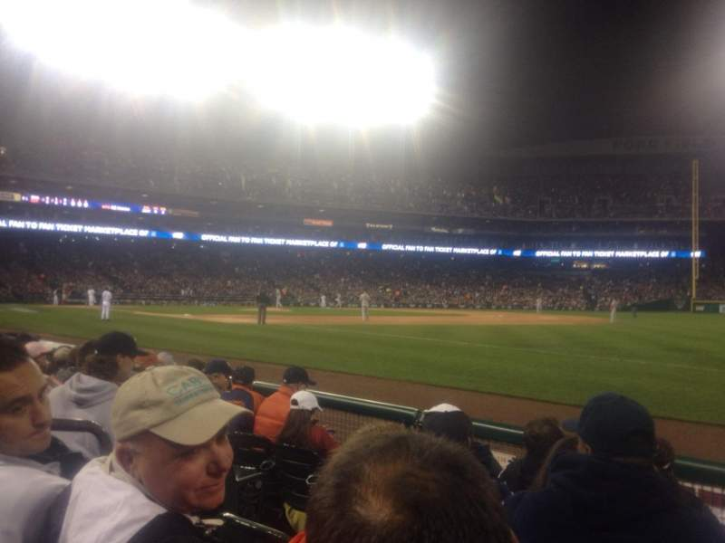 Seating view for Comerica Park Section 116 Row 5 Seat 20