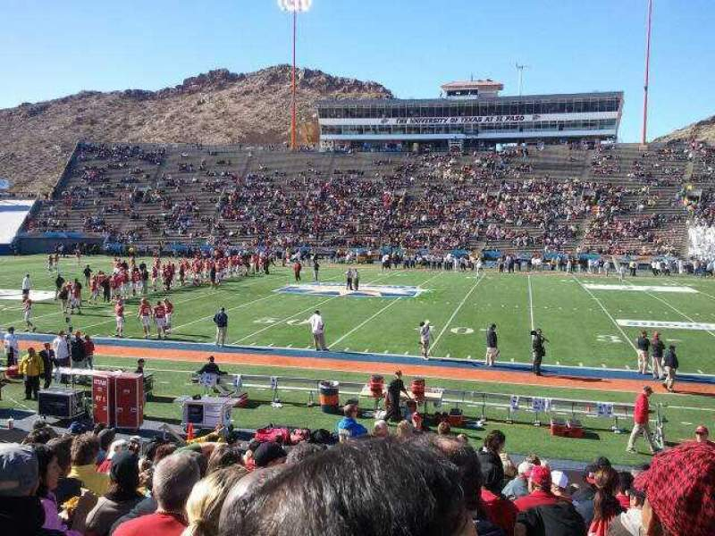 Seating view for Sun Bowl Stadium Section 19 Row 18 Seat 15