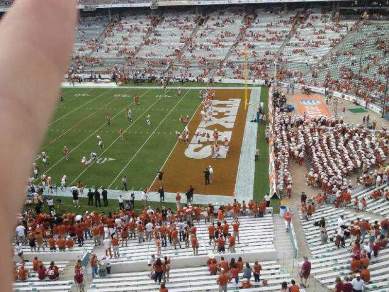 Seating view for Cotton Bowl Section 120 Row 2 Seat 1