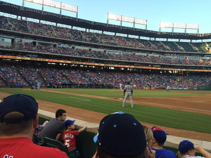 Seating view for Globe Life Park in Arlington Section 36 Row 2 Seat 3