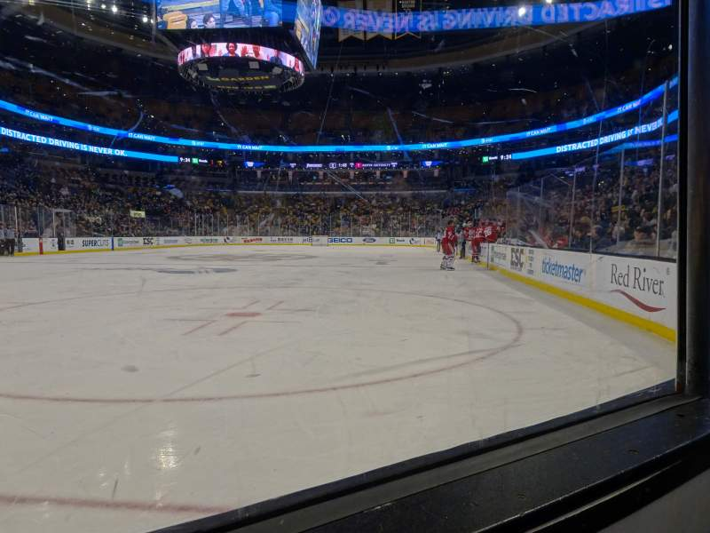 Seating view for TD Garden Section Loge 5 Row 1 Seat 5
