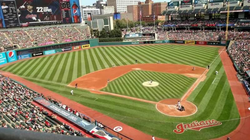 Progressive Field, section: 456, row: 1, seat: 18