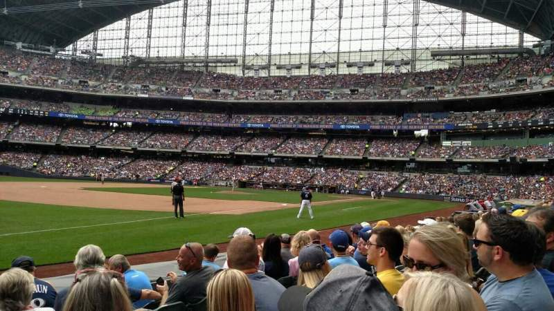 Miller Park, section: 126, row: 6, seat: 15