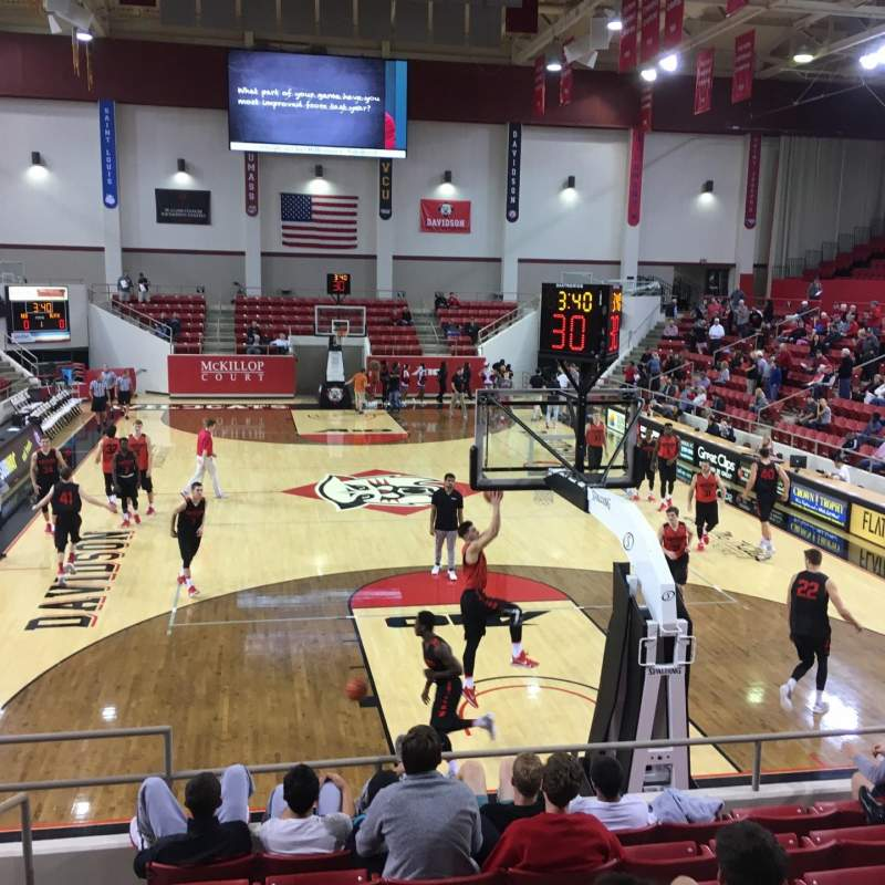 Seating view for John M. Belk Arena Section 1