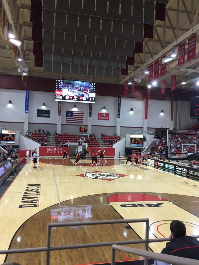 Seating view for John M. Belk Arena Section 2 Row C Seat 1