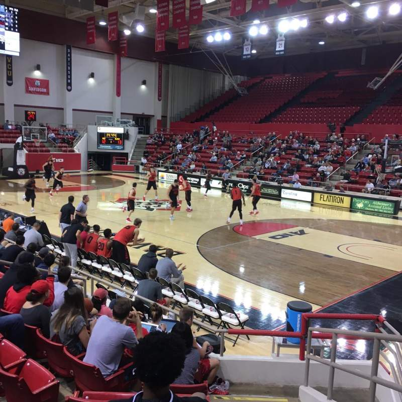 Seating view for John M. Belk Arena Section 4 Row D Seat 1