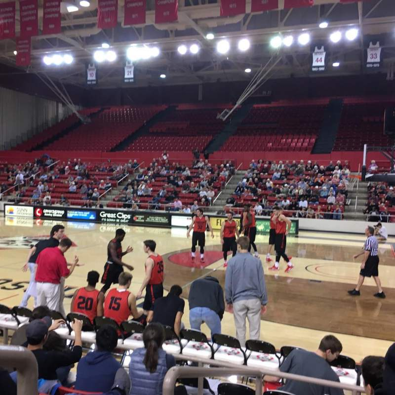 Seating view for John M. Belk Arena Section 6 Row C Seat 1