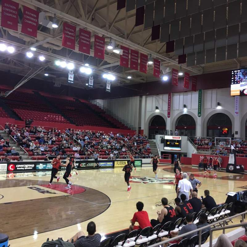 Seating view for John M. Belk Arena Section 16 Row H Seat 1