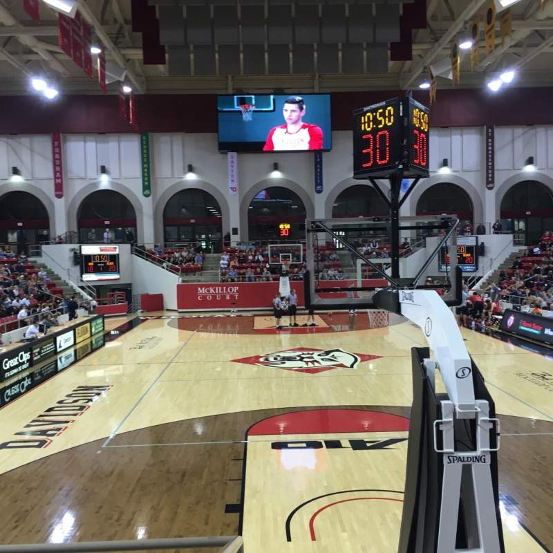 Seating view for John M. Belk Arena Section 20 Row A Seat 1