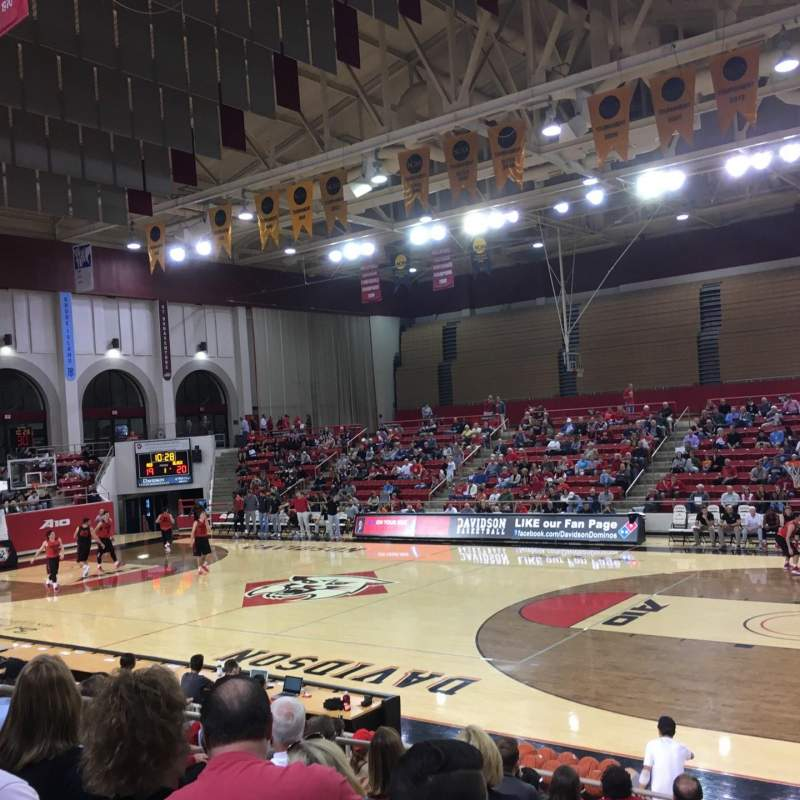 Seating view for John M. Belk Arena Section 15 Row G Seat 1