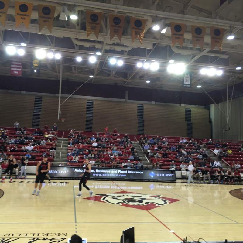 John M. Belk Arena, section: 11, row: F, seat: 1