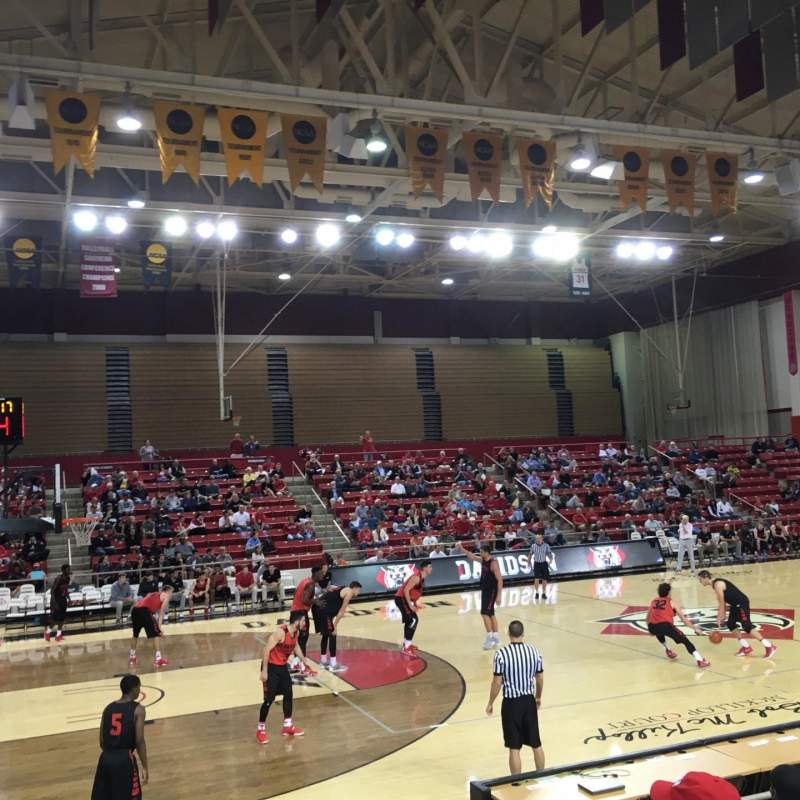 Seating view for John M. Belk Arena Section 7 Row C Seat 3