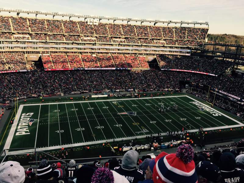 Seating view for Gillette Stadium Section 334 Row 17 Seat 20