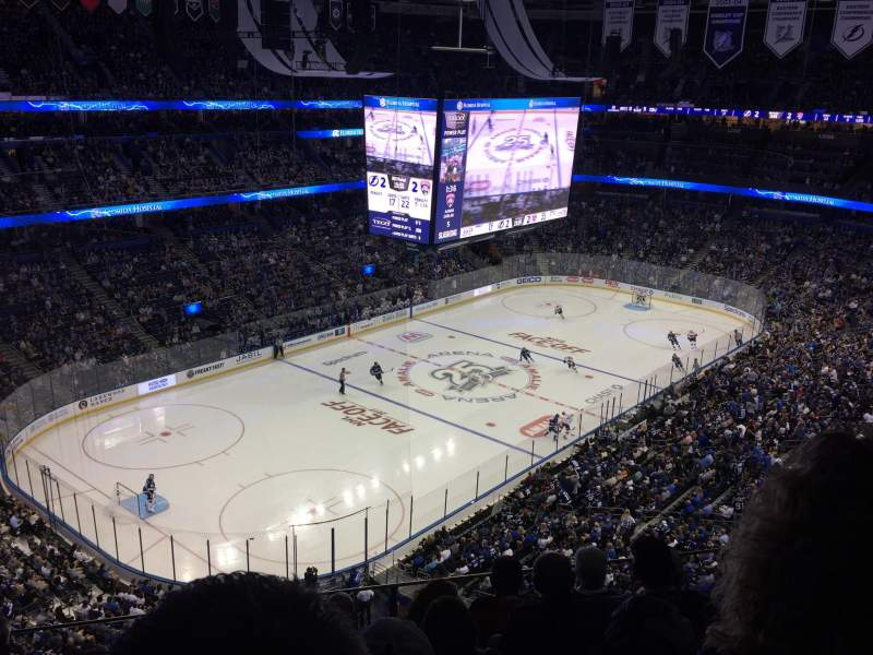 Amalie Arena, section: 320, row: F, seat: 14