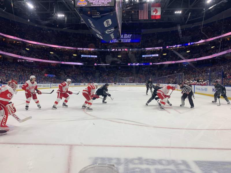 Seating view for Amalie Arena Section 108 Row A Seat 3